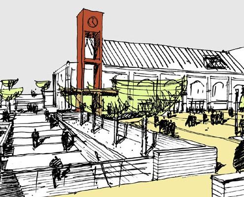 Platzgestaltung Bethel - Perspektive