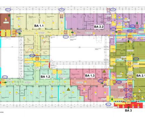 Brandschutzsanierung Thünen Institut Geb. 246 - Brandschutzplan Erdgeschoss