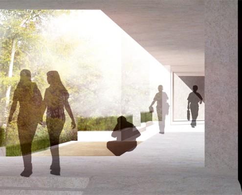 Betreutes Wohnen Alerds-Stiftung - Durchgang Erdgeschosszone