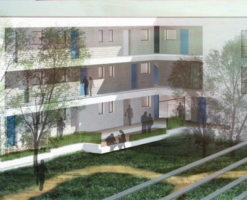 Betreutes Wohnen Alerds-Stiftung - Gartenseite