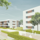 Wettbewerb Wohnen im Goethepark - Perspektive 900x600