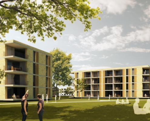 Wohnungsneubau Wellekamp Wolfsburg - Perspektive 900x600