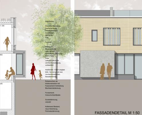 Jugendhaus Hallschlag - Fassadendetail