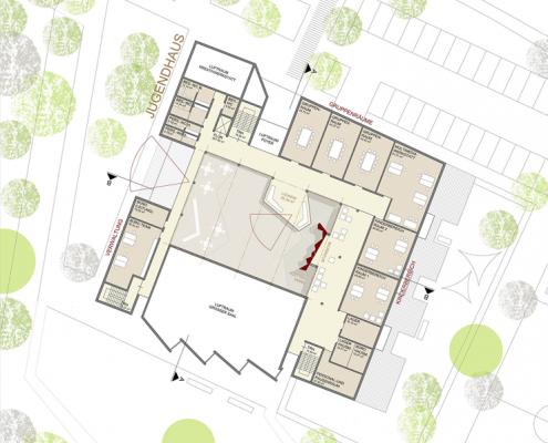 Jugendhaus Hallschlag - Grundriss OG