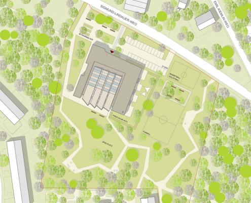 Jugendhaus Hallschlag - Lageplan