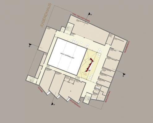 Jugenhaus Hallschlag - Grundriss UG