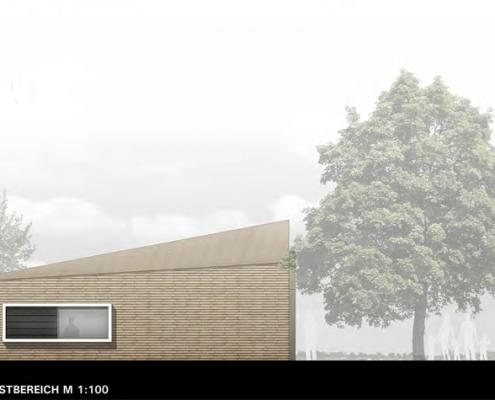 Neubau eines Gemeindehauses in Adenstedt - Ansicht Nord