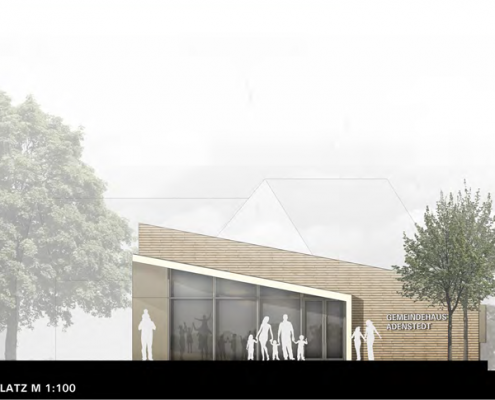 Neubau eines Gemeindehauses in Adenstedt - Ansicht Süd