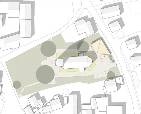 Neubau eines Gemeindehauses in Adenstedt - Lageplan