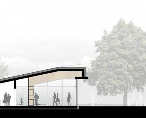 Neubau eines Gemeindehauses in Adenstedt - Schnitt A
