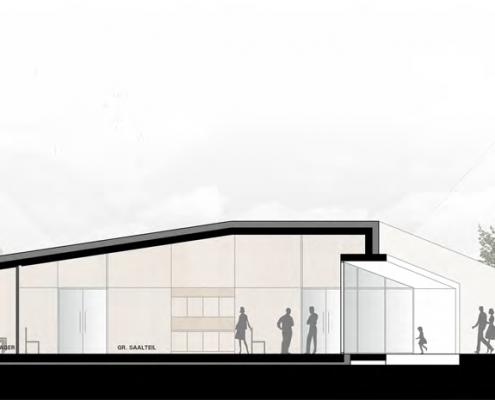 Neubau eines Gemeindehauses in Adenstedt - Schnitt B